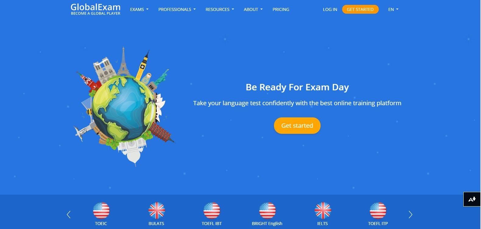 Globalexam (آزمون جهانی) یکی از منابع آزمون اف سی ای