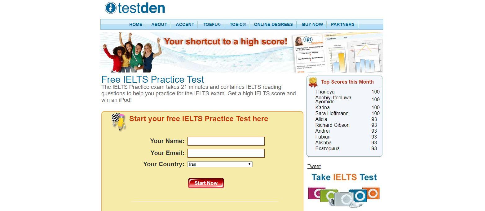 IELTS Practice exam takes 21 minutes آزمون آنلاین رایگان آیلتس