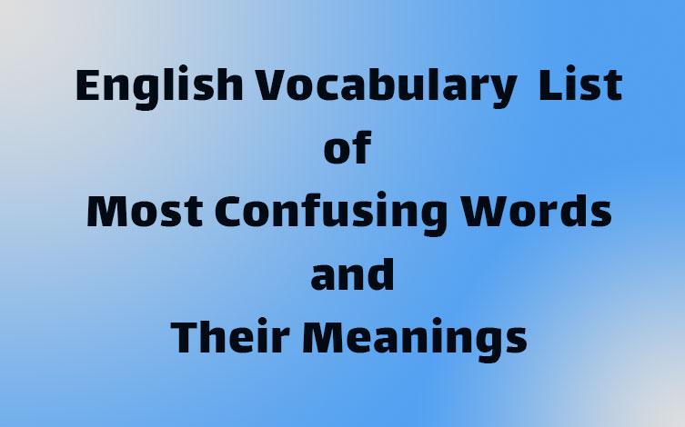 لیست لغات و کلمات پرکاربرد و روزمره انگلیسی همراه با معنی و مثال
