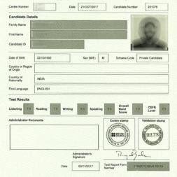 کارنامه آیلتس : مشاهده کارنامه + کالبدشکافی یک مدرک IELTS واقعی
