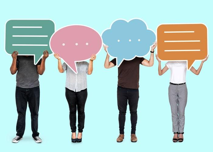 برای یادگیری زبان انگلیسی با دیگران صحبت کنید