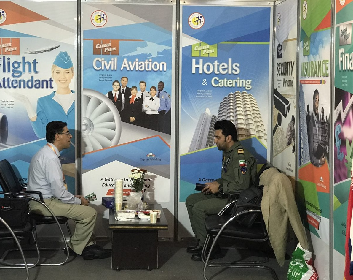 حضور آکادمی زبان سفیر گفتمان در نمایشگاه بین المللی حمل و نقل هوایی