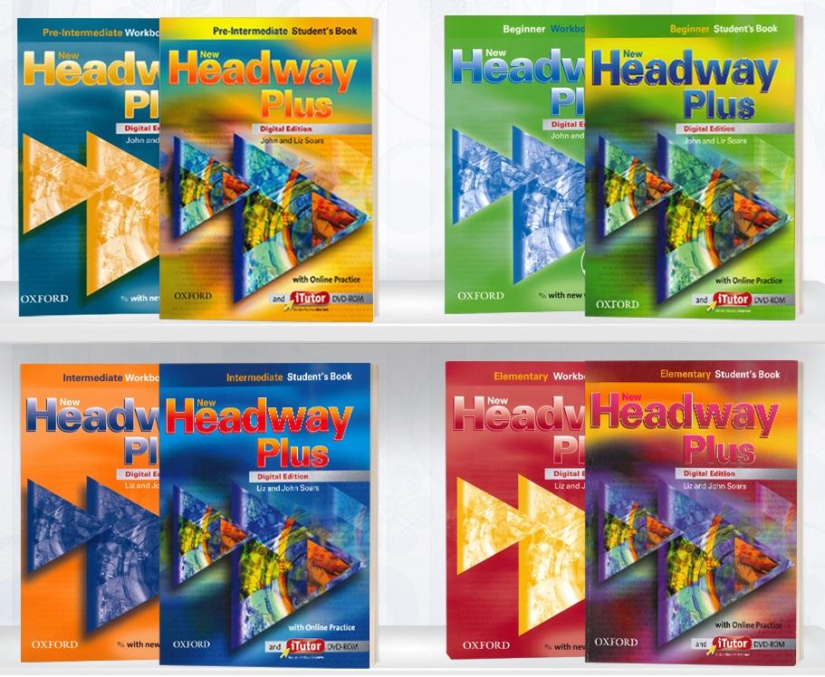 منابع آیلتس new headway plus books خودآموز و بدون استاد
