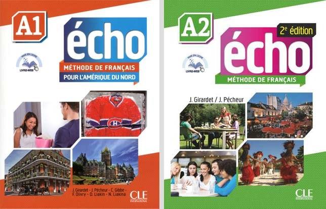کتاب آموزش زبان فرانسه ÉCHO a1 و a2